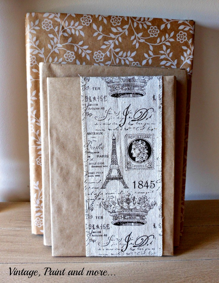 Vintage, Paint and more... old books made new with DIY'd paper book jackets.
