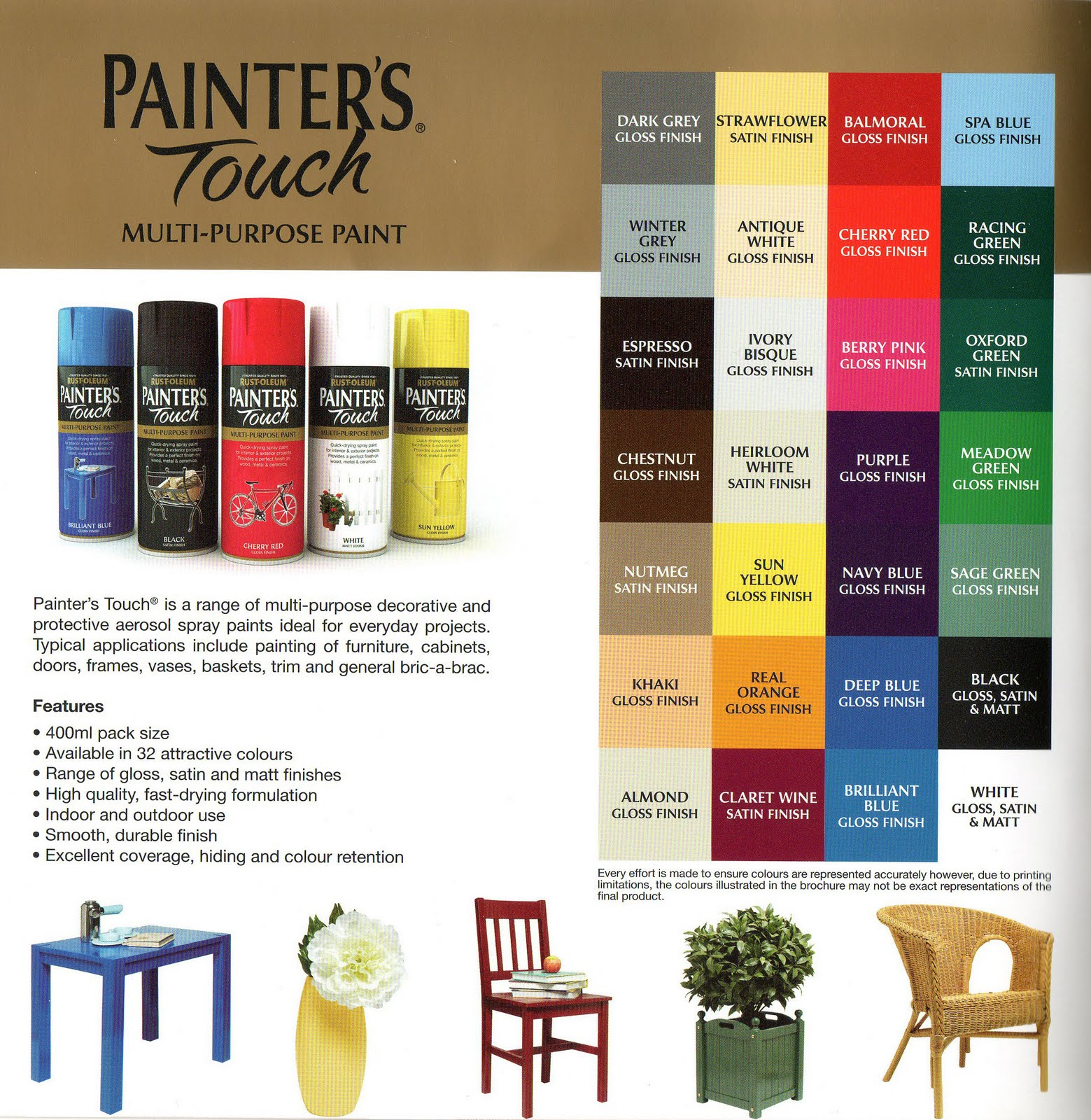 Game color chart - Game Color Paint Chair Colouring