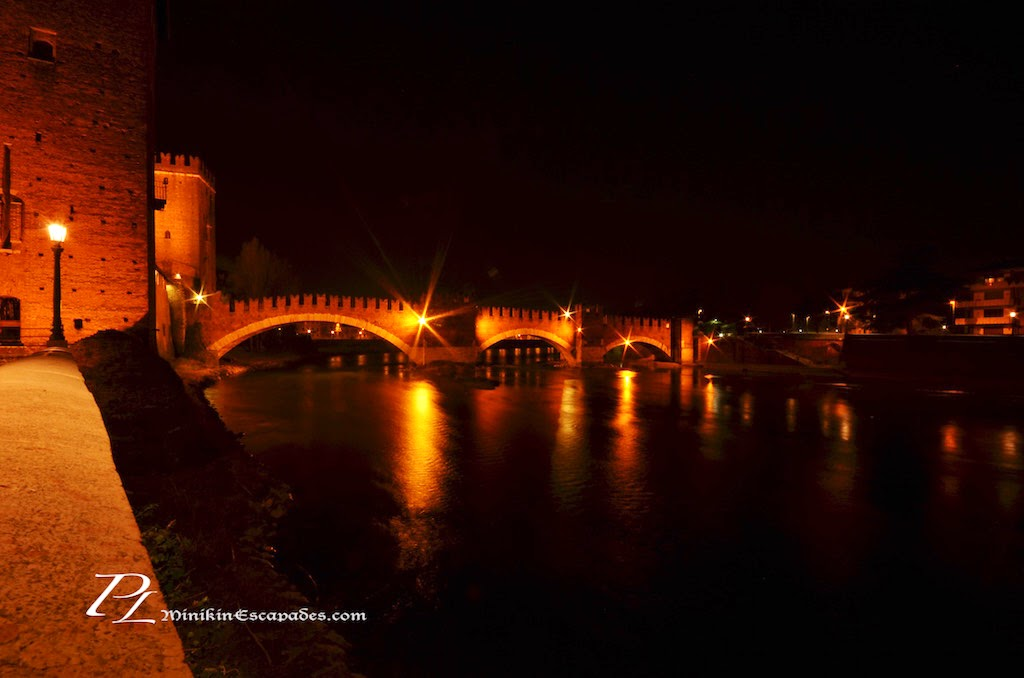 Ponte Pietra at midnight
