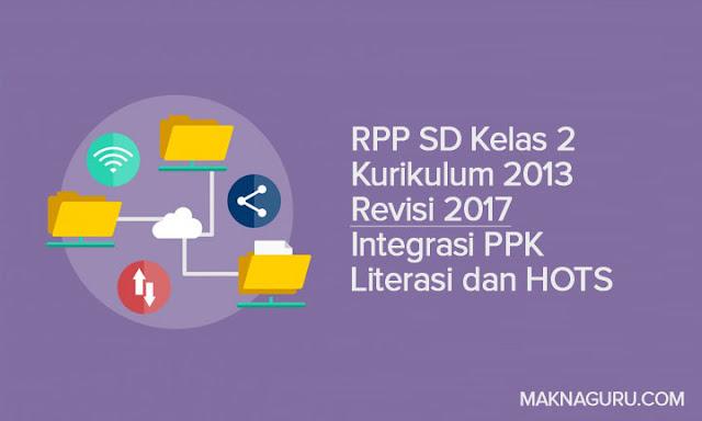 RPP SD Kelas 2 Kurikulum 2013 Revisi 2017 Integrasi PPK Literasi dan HOTS