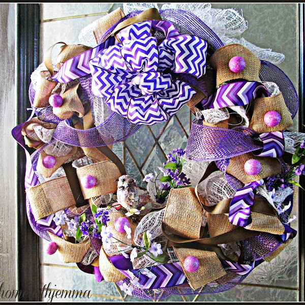 Radiant Orchid Spring Wreath