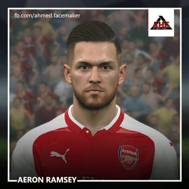 Aaron Ramsey Face PES 2017