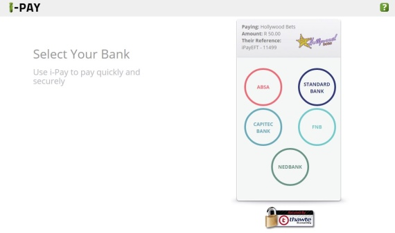 You are on the iPay portal with banking options