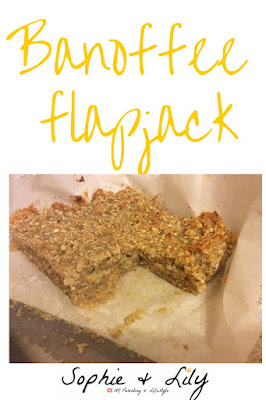 Banoffee flapjack by Sophie and Lily