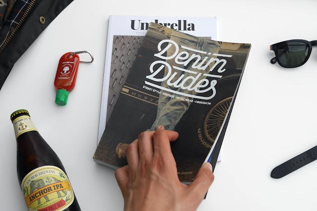 umbrella Magazine, black sunglasses, black watch