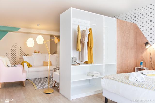 ideas para decorar y separar dormitorio del salon