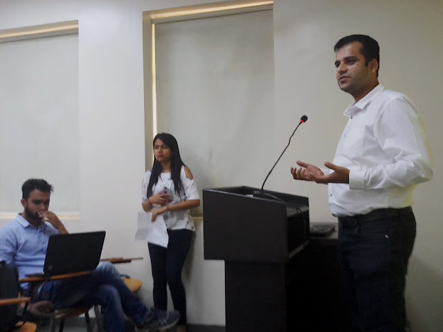 Addressing PGDM students at New Delhi Institute of Management