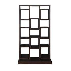 Design rak lemari buku minimalis model 5