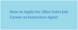 Aflac Sales Representative Job Application