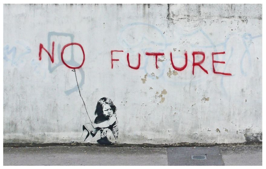 These 30+ Street Art Images Testify Uncomfortable Truths - No Future… If We Do Not Change