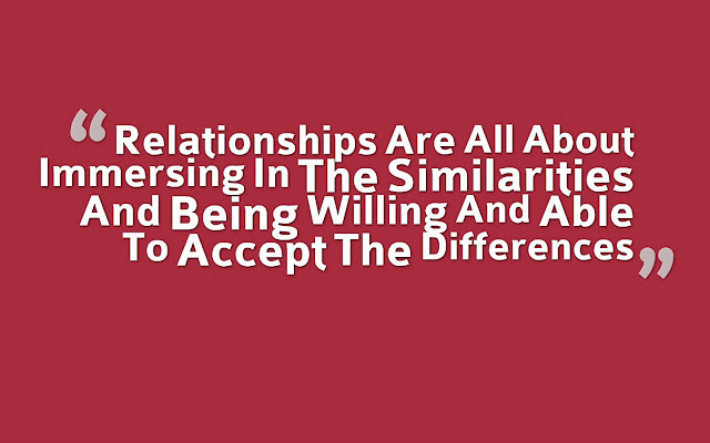 A strong bond in love is created by immersing in the similarities and being willing and able to accept the differences while continuing to grow together as a couple.