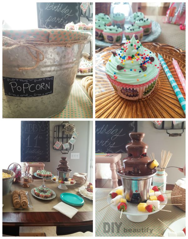 Awesome food ideas and table set up for a tween birthday | DIY beautify