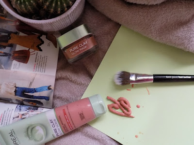 L'oreal pure clay glow scrub and glow mask