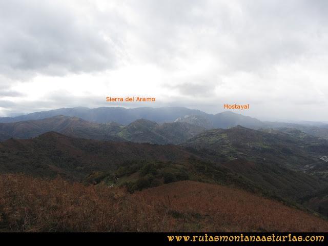 Ruta Olloniego Escobín: Sierra del Aramo y Mostayal desde el Escobín