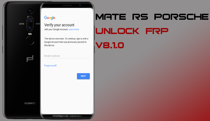 Bypass Frp Huawei Mate Rs Porsche Neo Al00 Remove Google Account