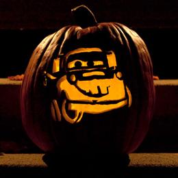 Sasaki Time Tow Mater Pumpkin Carving Template
