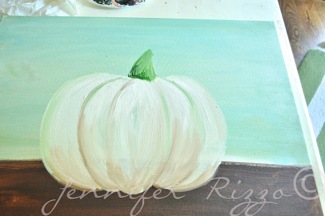 How to paint a pumpkin canvas, art skills not required!!!painting with acrylic paint