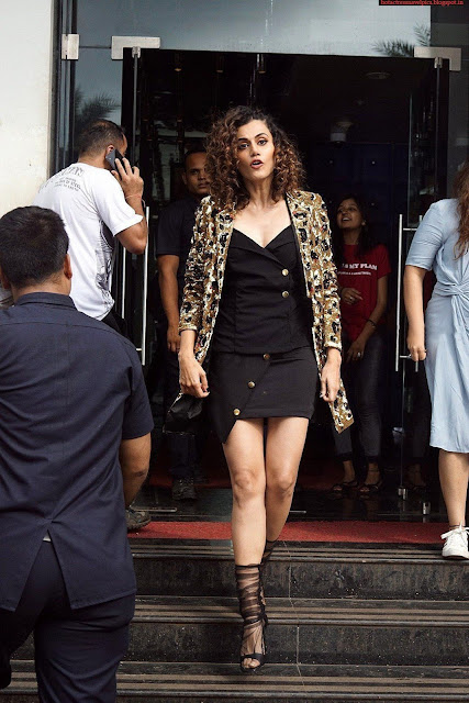 Taapsee Pannu Latest Hot Stills at Judwaa 2 Movie Promotions