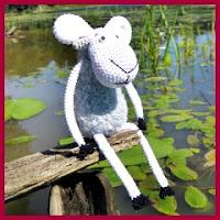 Graciosa oveja a crochet