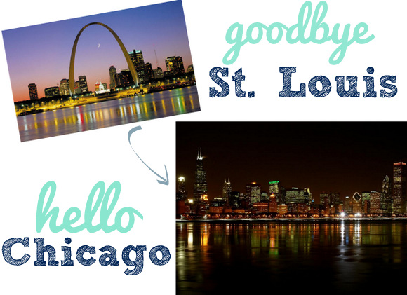 Goodbye St. Louis Hello Chicago