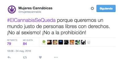 #ElCannabisSeQueda tweet @mujerescannabis