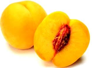 Foto de la fruta durazno de color amarillo