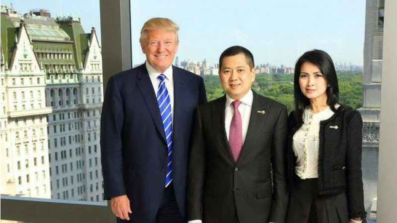 Hary Tanoesoedibjo dan istri bersama Donald Trump