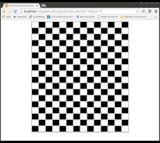 Kotak Papan Catur dengan PHP HTML & CSS