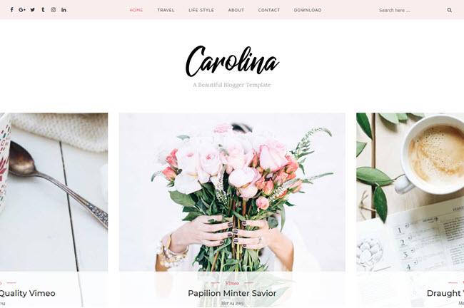 Carolina - Personal Blogger Template