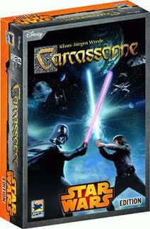 Carcassonne Star Wars edition, board game, card game