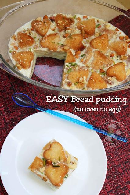 BREAD pudding no oven no egg bread pudding easy simple tasty bread desserts caramel bread pudding iftar ramadan recips ayeshas kitchen desserts recipes
