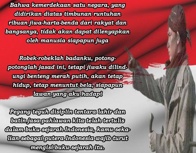 Kata Kata Mutiara Motivasi Perjuangan Jendral Sudirman