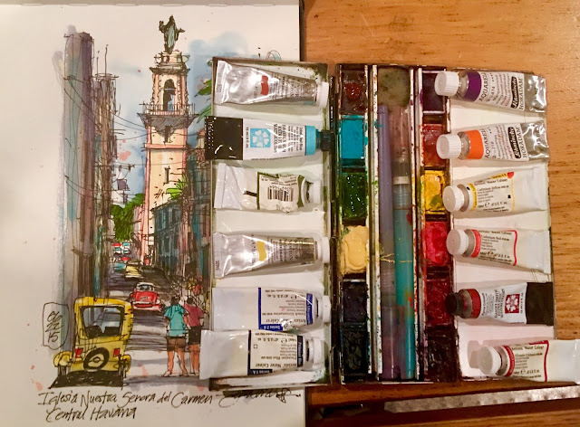 James Richards Sketchbook Jim S Watercolor Palette Du Jour