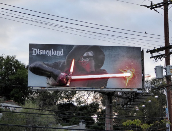 Disneyland 3D Star Wars Kylo Ren lightsaber billboard