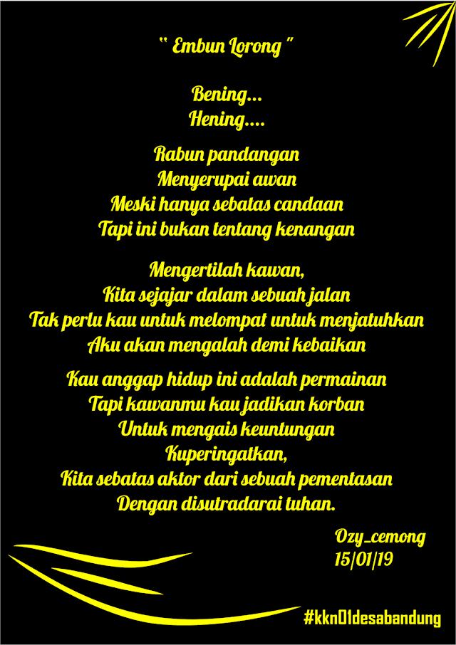 Embun Lorong Karya Ozy_Cemong