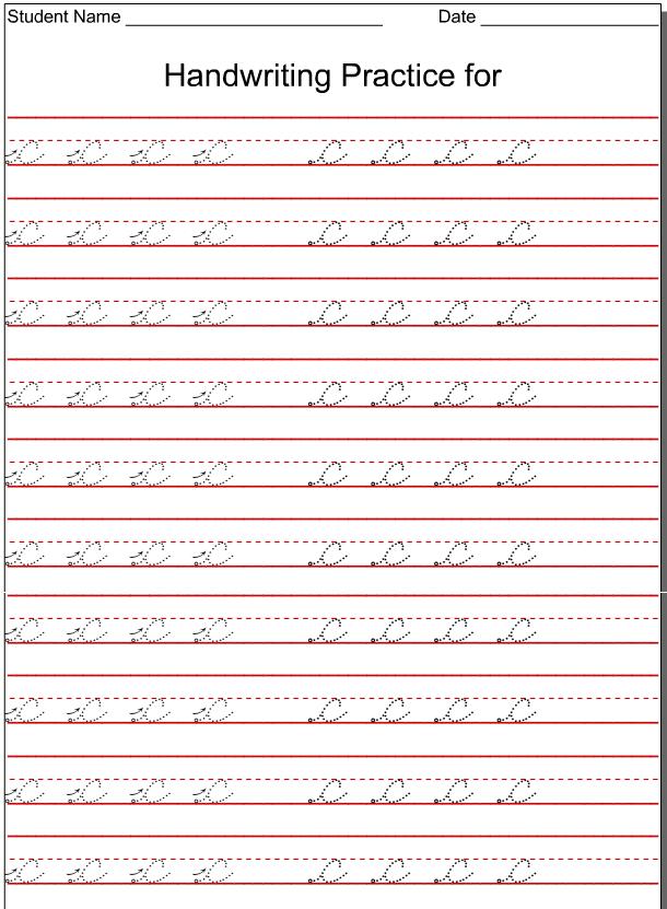 Kindergarten Worksheets: Lowercase Cursive - Letter C