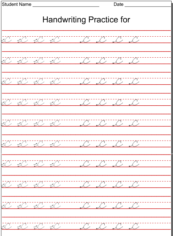 good handwriting alphabet sheets