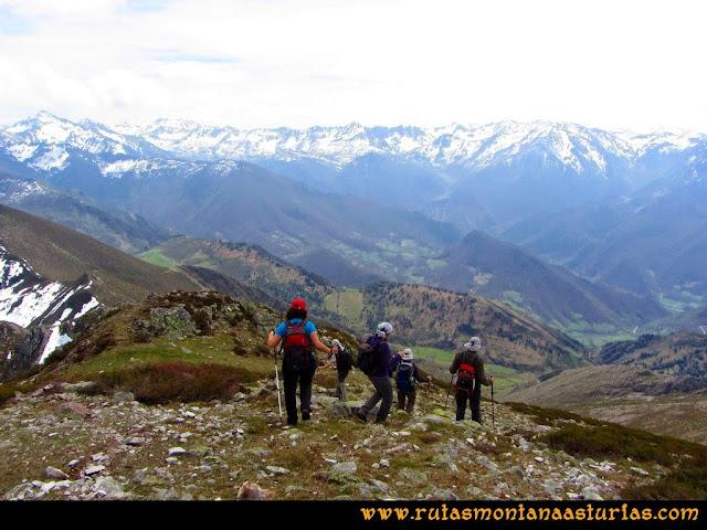 Ruta Retriñon: Iniciando descenso
