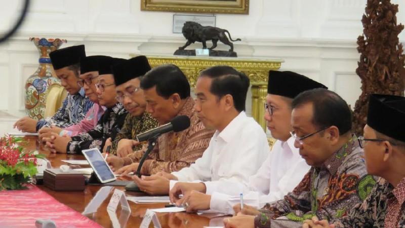 Jokowi bertemu ulama di Istana Merdeka