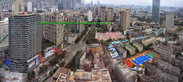 Aerial panorama, Chengdu, Sichuan, China