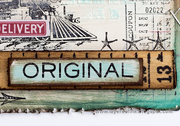 Layers of ink - Distressed Texture Tag Tutorial by Anna-Karin with Tim Holtz distress and idea-ology