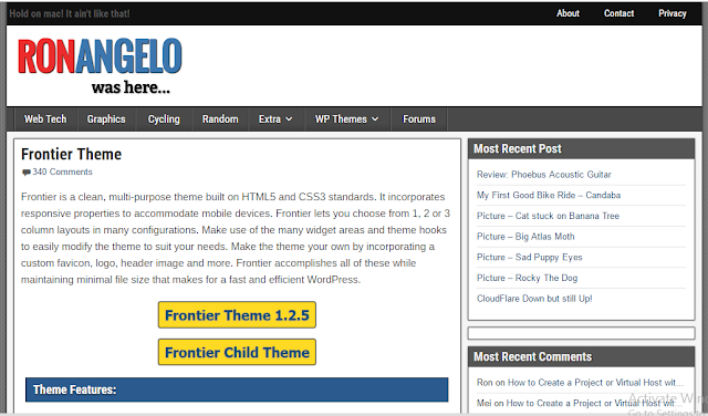 Frontier Theme - Free theme wordpress for Blogger