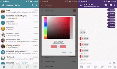 Delight BBM Mod Apk Terbaru