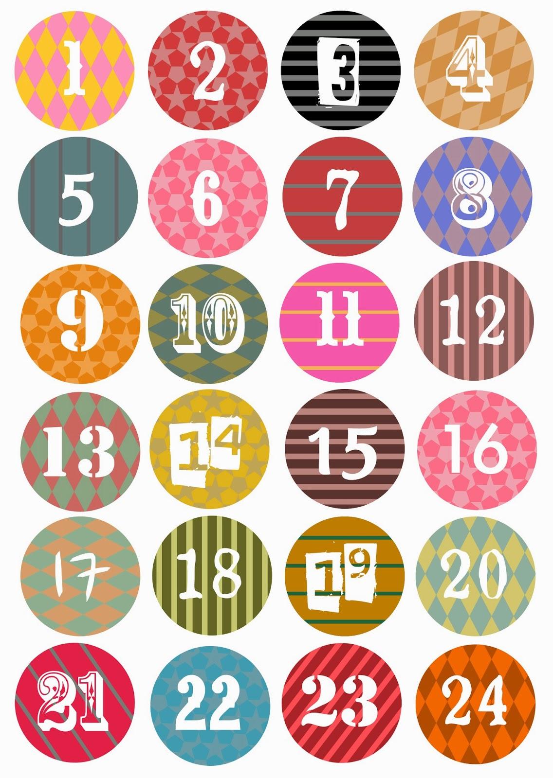 Joulukalenteri Numerot