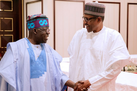 Image result for r Tinubu  Buhari