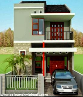 Rumah minimalis sederhana type 21 warna cerah