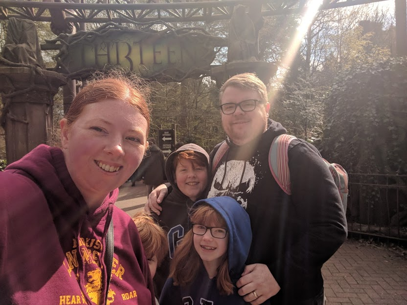 Visiting Alton Towers with Children who are 1.3m Tall - Itinerary & Tips  - thirteen entrance