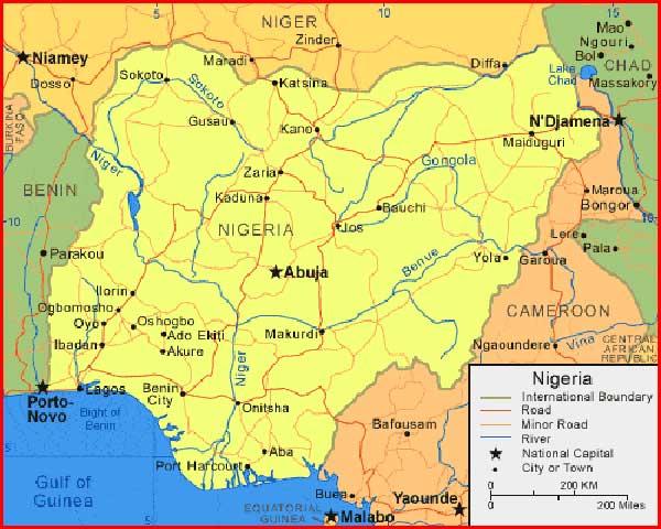 Gambar Peta Nigeria
