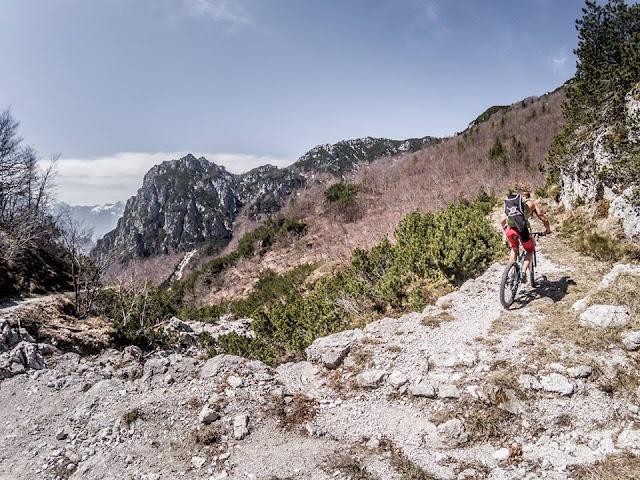 MTB Julischen Alpen Monte Vualt 1735 m.ü.A. - Val Aupa Friaul Mountainbike