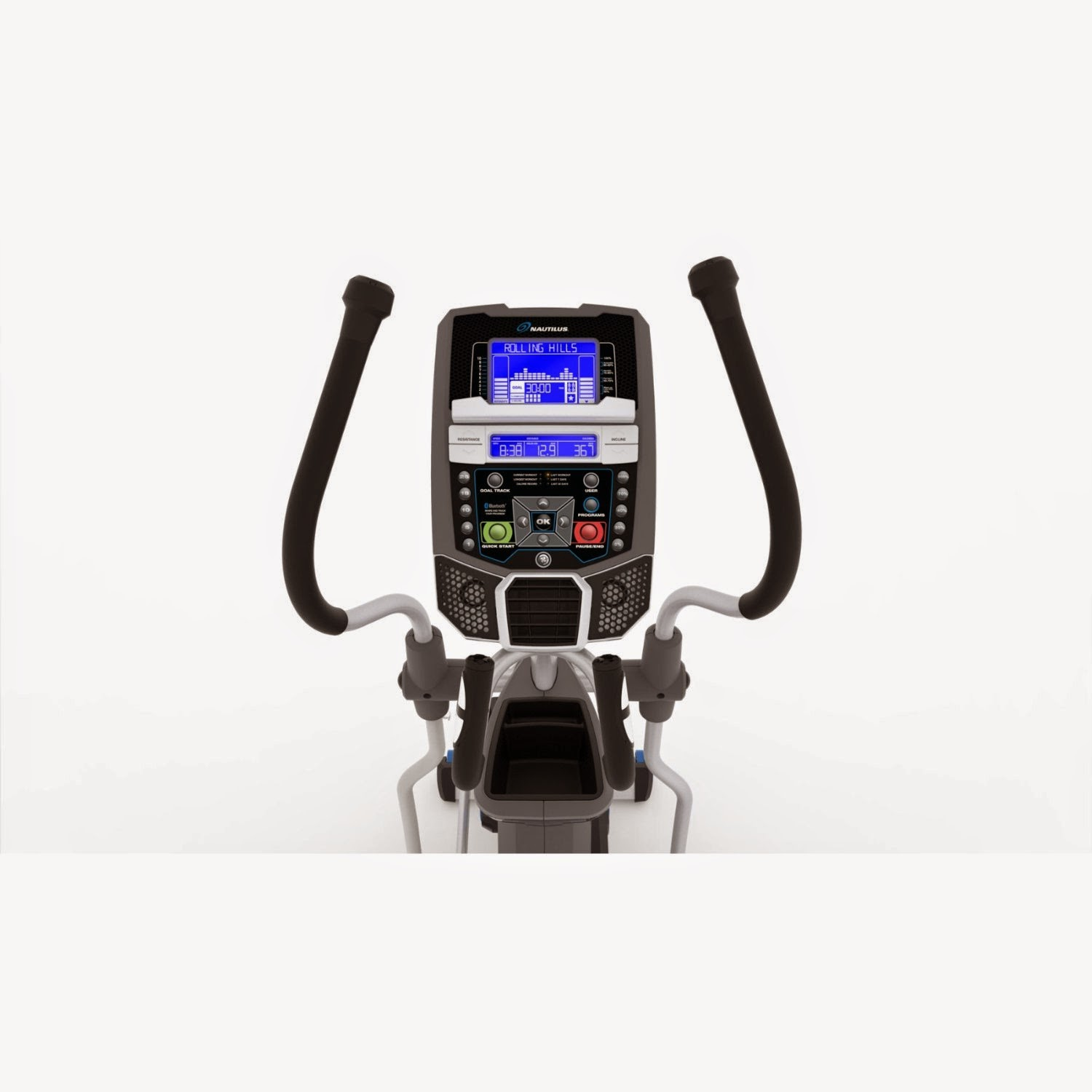 Nautilus E616 console with  blue backlit Dual Track LCD display